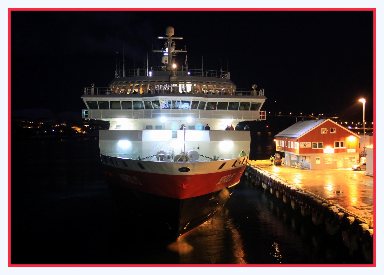 Sauber eingeparkt in Rörvik