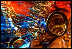 Saxophongewimmel