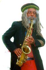 Saxophonspieler in Chicago