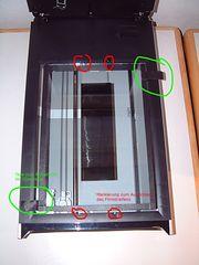 Scanner mit Glasscheibe