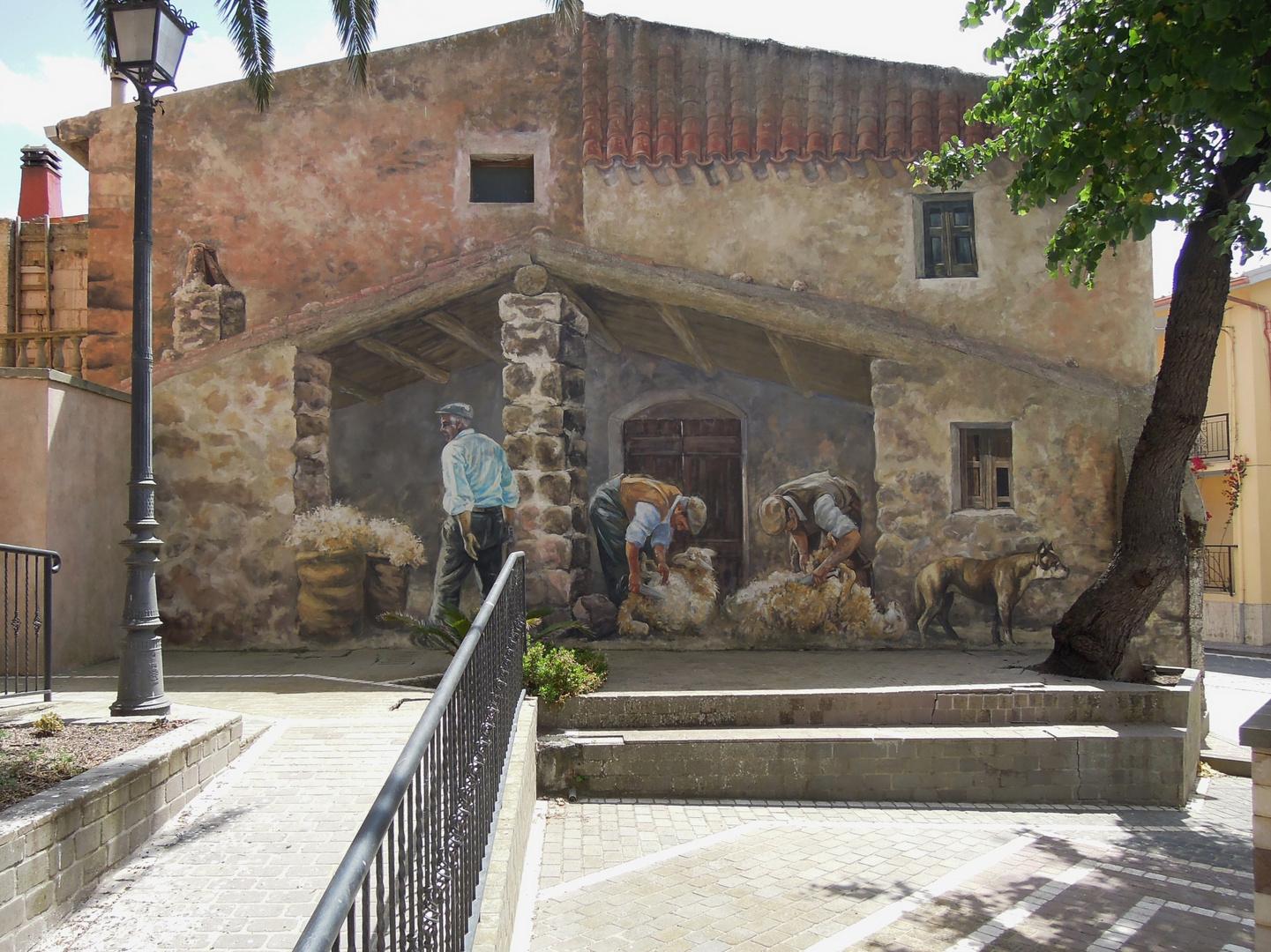 Scene di vita  contadina- Murales di Tinnura