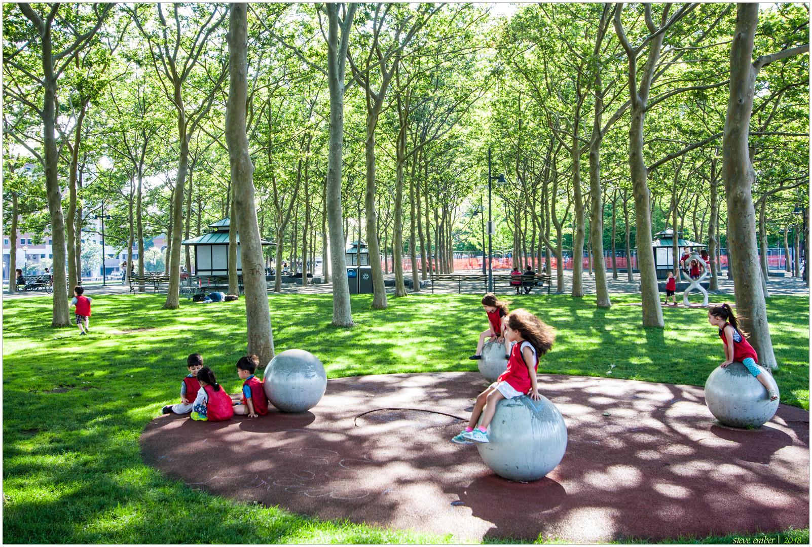 Scene in a Park - A Hoboken Impression