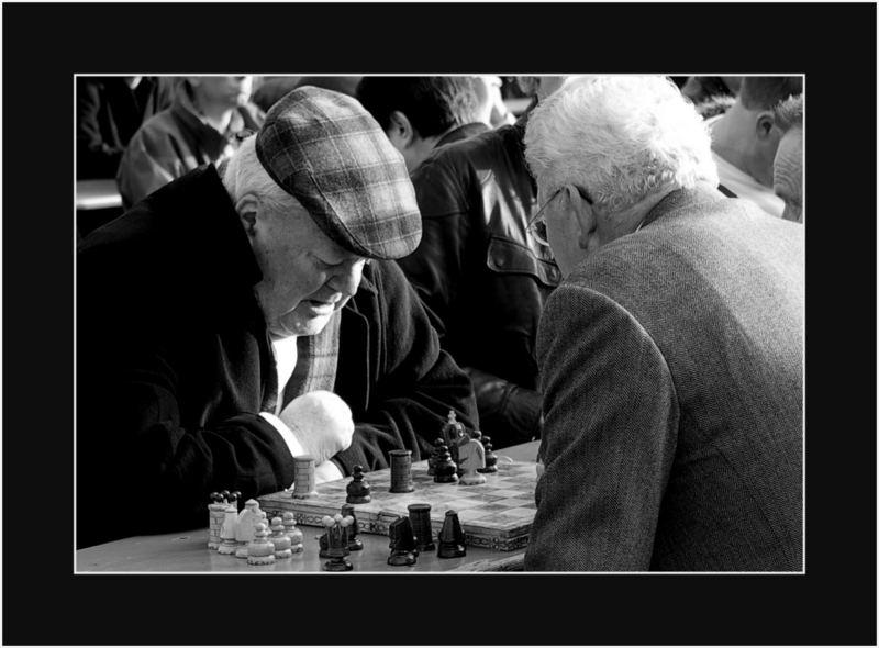 Schach spielen auf den Viktualienmarkt..