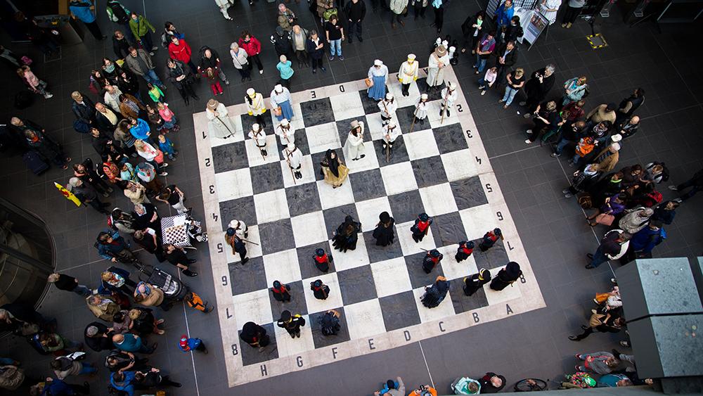 Schachfest Berlin Hauptbahnhof