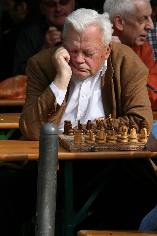 Schachspieler auf Stand-by
