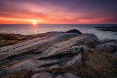 Schärenküste am Morgen