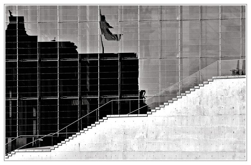 Schatten und Treppe
