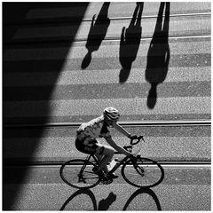 Schatten.Fahrer