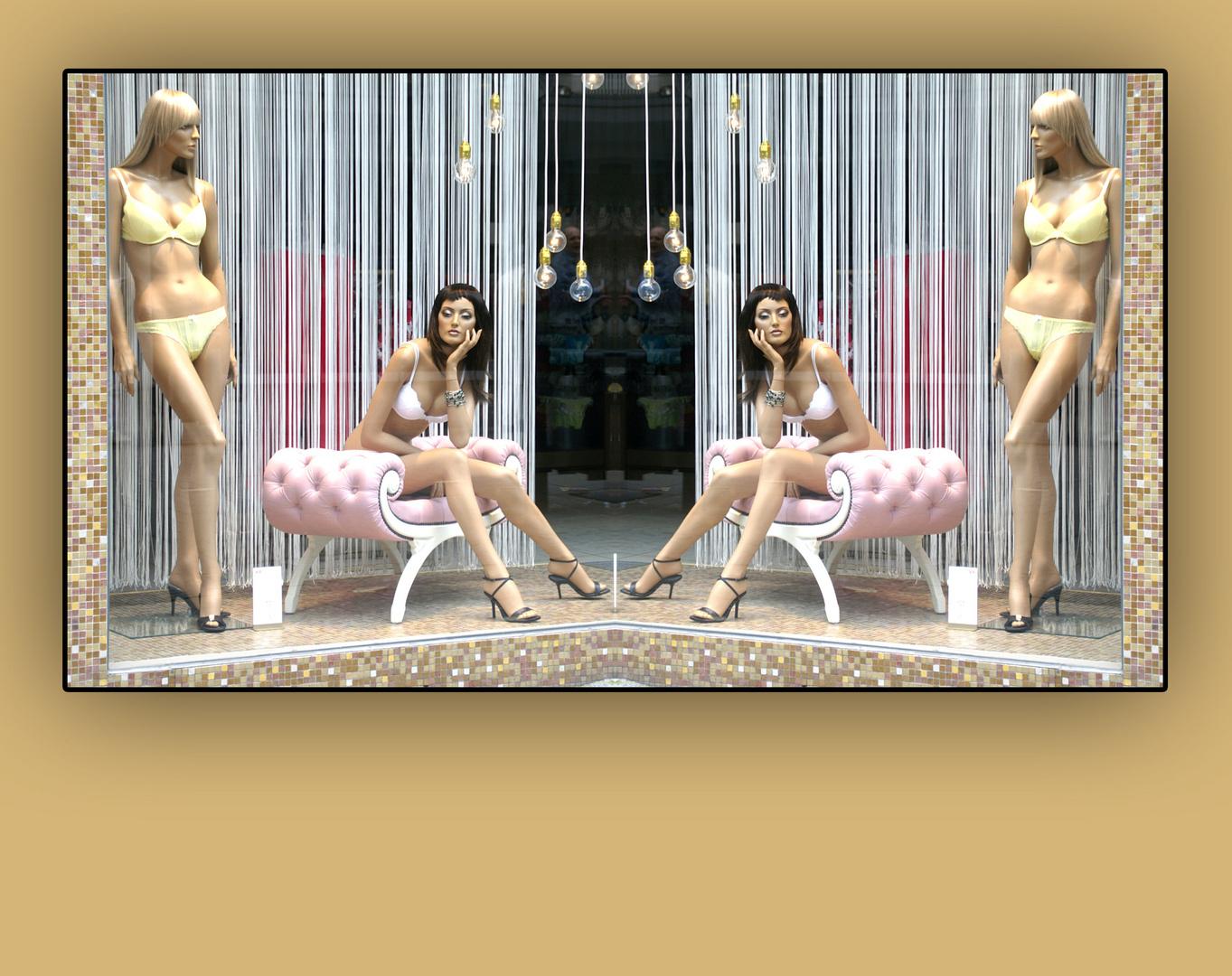 schau fenster spiegel foto bild fashion indoor frauen bilder auf fotocommunity. Black Bedroom Furniture Sets. Home Design Ideas