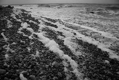 Schaum an Stolteras Strand