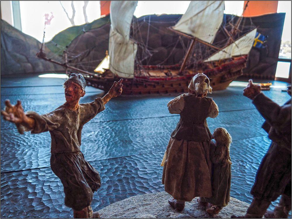 Schaut! Die Vasa sinkt!