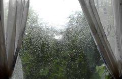 Scheibenkleister bei Regen