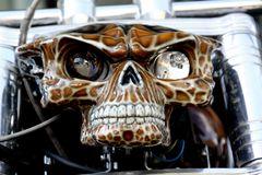 Scheinwerfer einer Harley