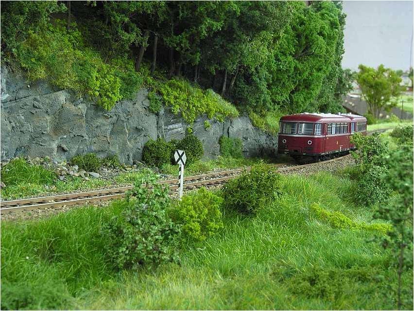 Schienenbus auf der Nebenstrecke nach Mellenbach