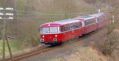 Schienenbus, im Westerwald
