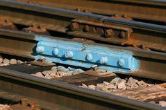 Schienenverbindung im Yard der Appalachian & Ohio Railroad, WV, USA