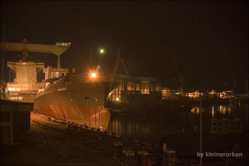 Schiffbau am Estesperrwerk 02