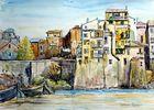 Schiffe entladen auf dem Tiber, Rom