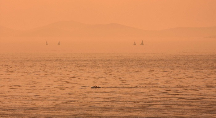 Schiffe im Marmara Meer
