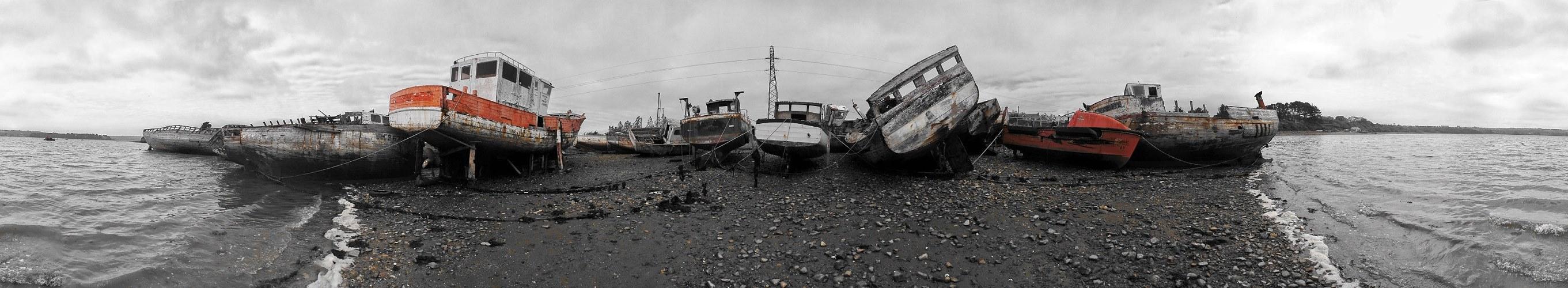 Schifffriedhof von Rostellec - Finistere / Bretagne
