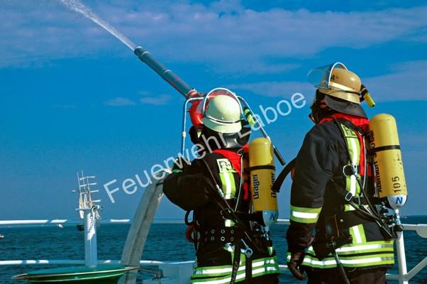Schiffsbrandbekämpfung auf See