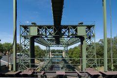 Schiffshebewerk Henrichenburg - Durchblick durch die Anlage