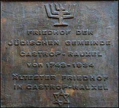 Schild des jüdischen Friedhofs