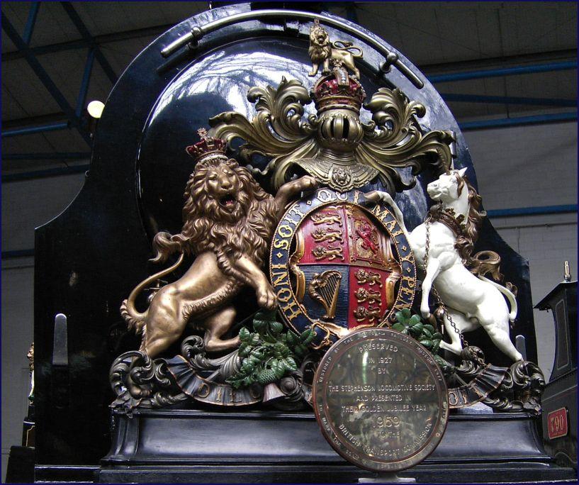 Schild einer Lokomotive
