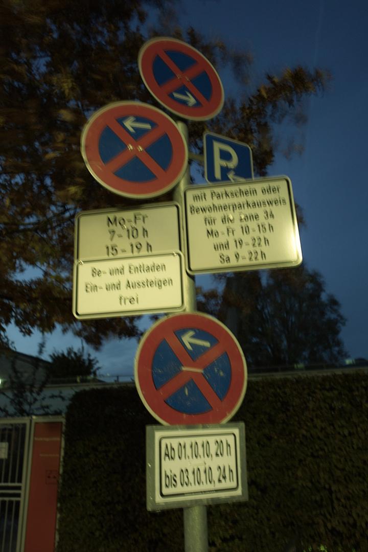Schilderwald Parken Verboten