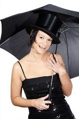 Schirm und Hut...