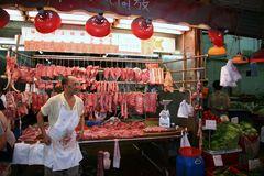 Schlachter in Hong Kong