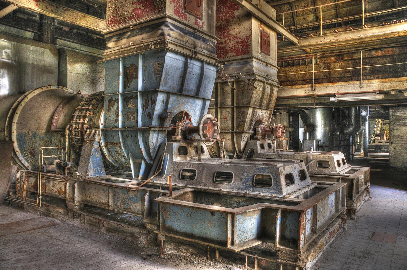 Schlackenmahlwerk Kraftwerk Vockerode