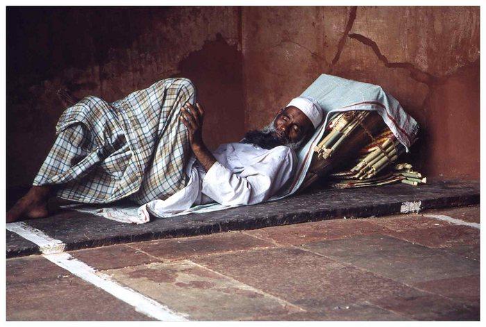 Schlaf in der Moschee