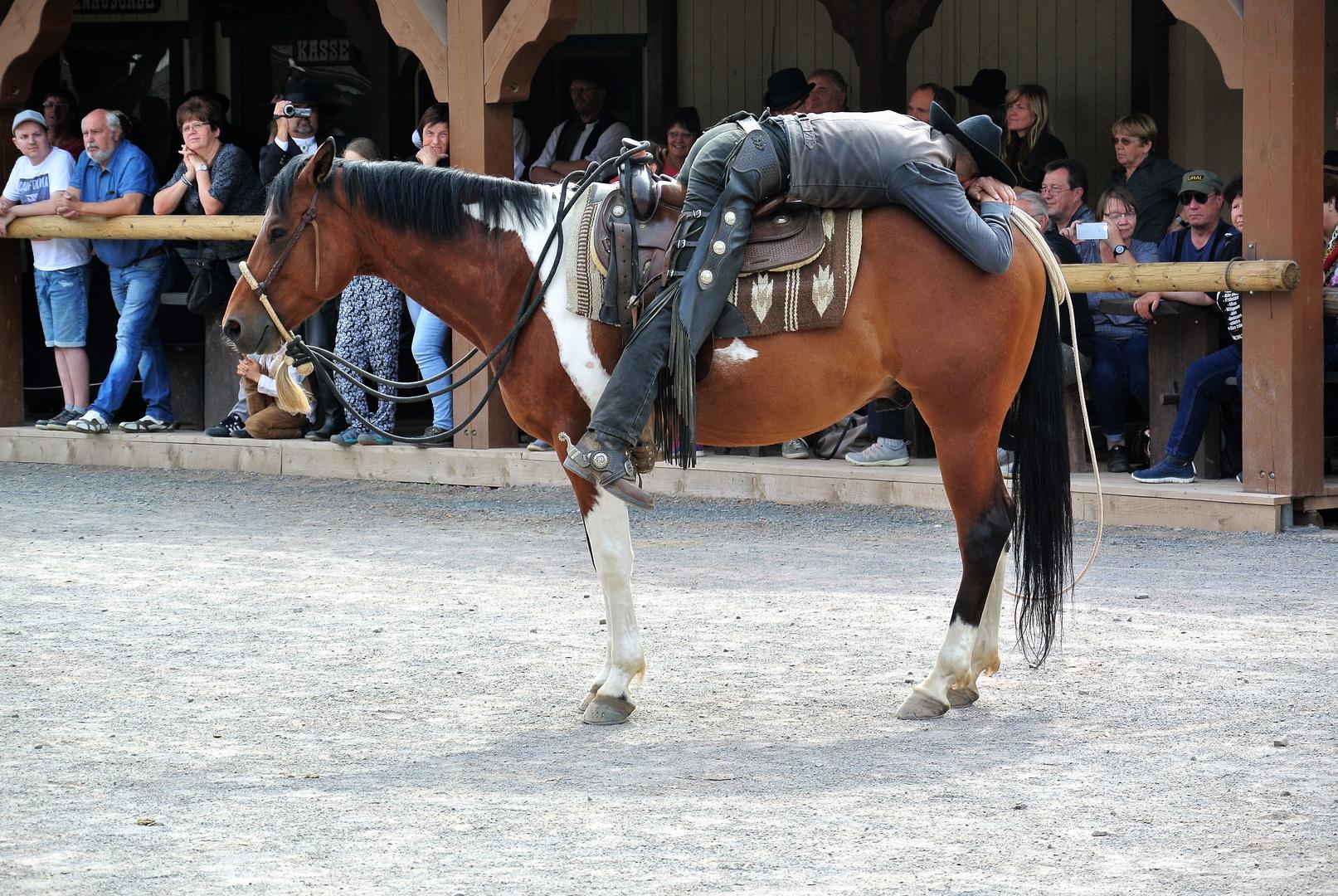 schlafender Cowboy in Pullmann City