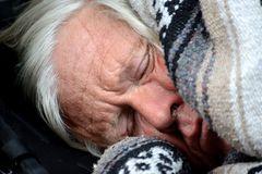 schlafender Obdachloser