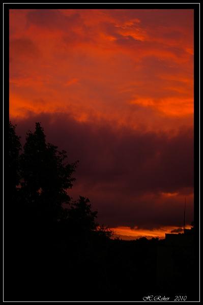 Schlechteres Wetter , schönster Sonnenuntergang