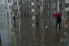 schlechtes Wetter am Düsseldorfer Hafen
