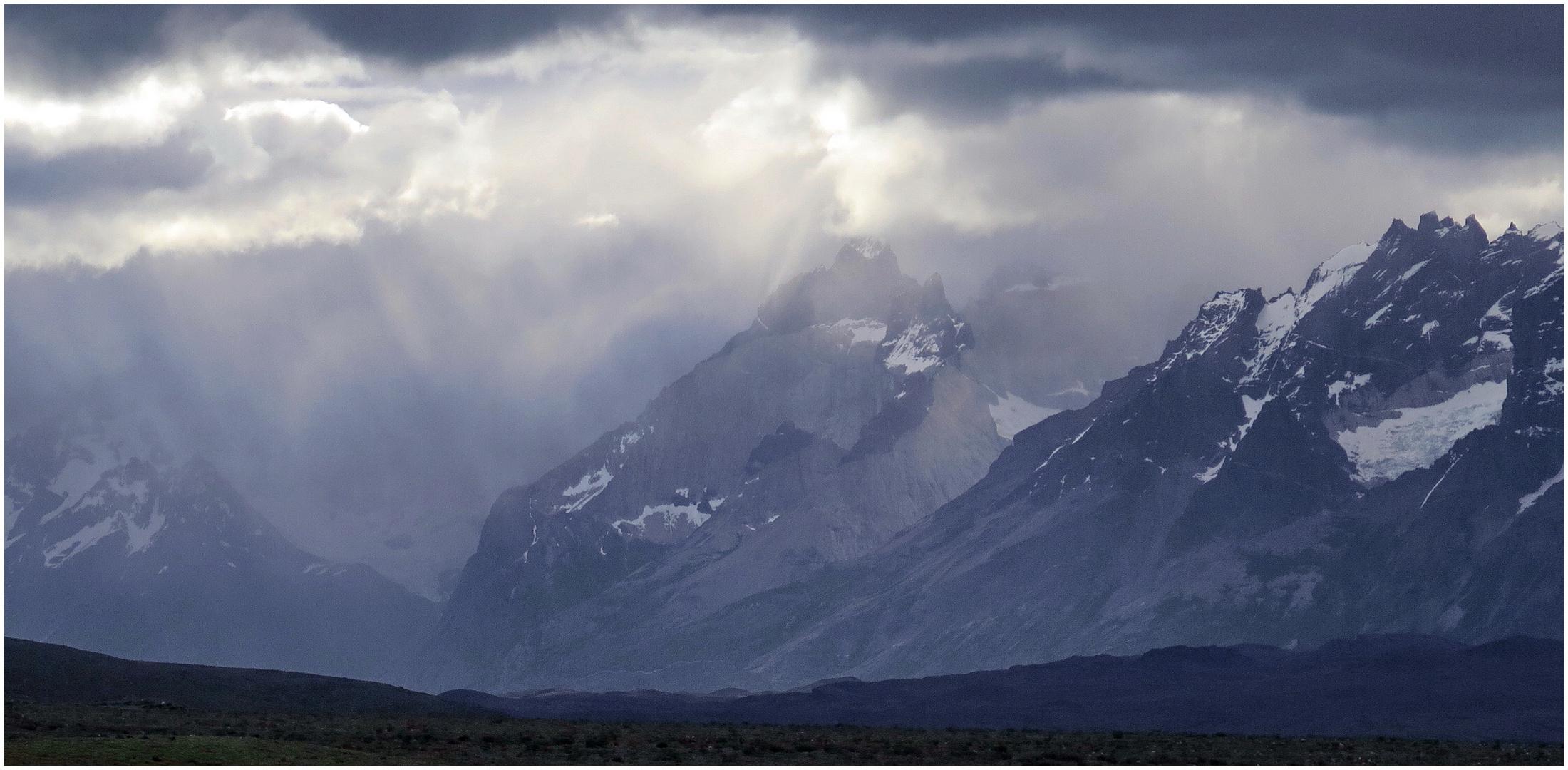 Schlechtes Wetter im Torres del Paine N.P.