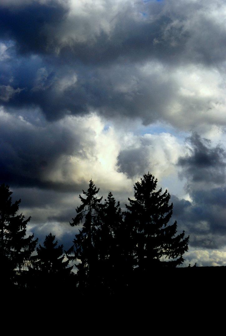 Schlechtes Wetter zieht auf.