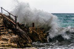 Schlechtwetter an der Cala Deia