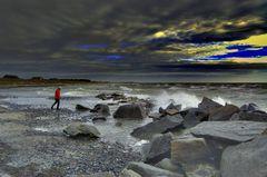 Schlechtwetter auf der Insel Hiddensee