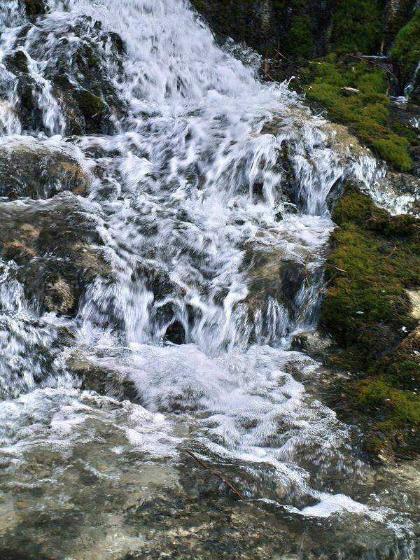 Schleier-Wasserfall vor Hohenberg