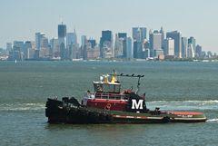 Schlepper vor Manhattan