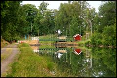 Schleuse am Gota Kanal Schweden