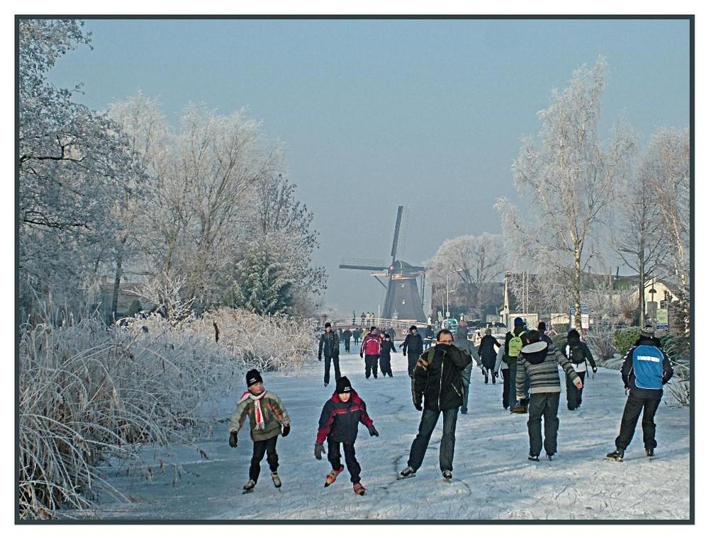 Schlitschu laufen in Holland