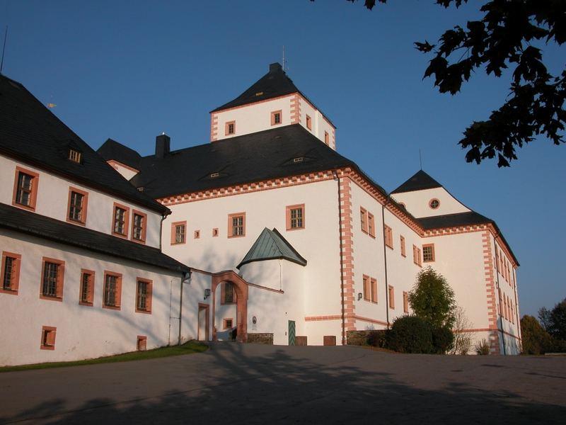 Schloß Augustusburg ( Sachsen ) -Südeingang