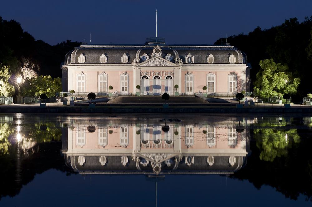 Schloss Benrath, gespiegelt