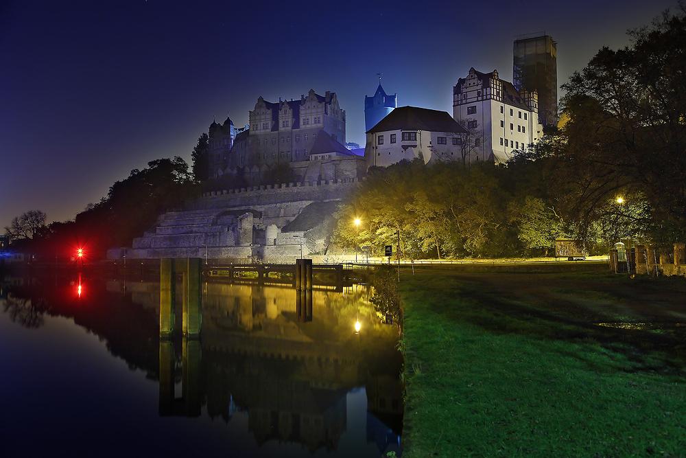 Schloss Bernburg nach Mitternacht...