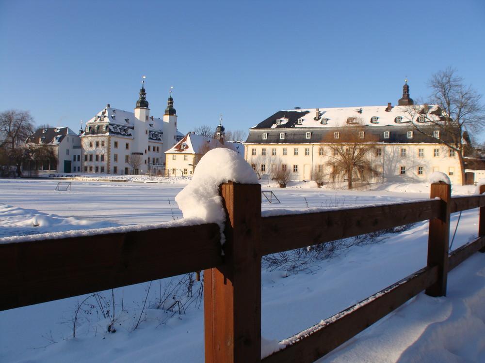 Schloss Blankenhain im Schnee (2)