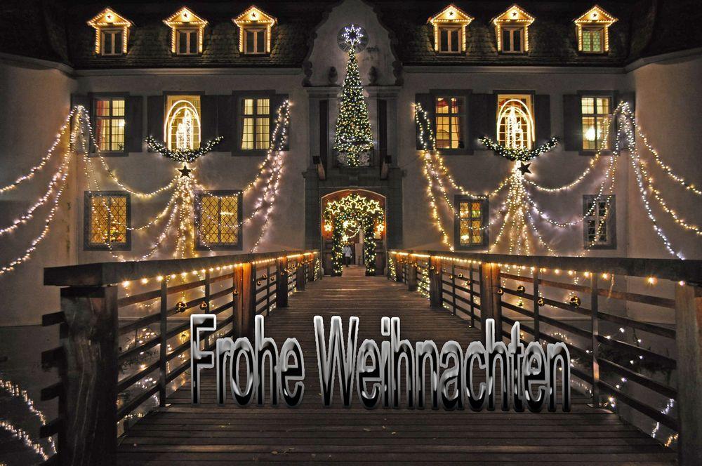 Schloss Bottmingen bei Nacht.